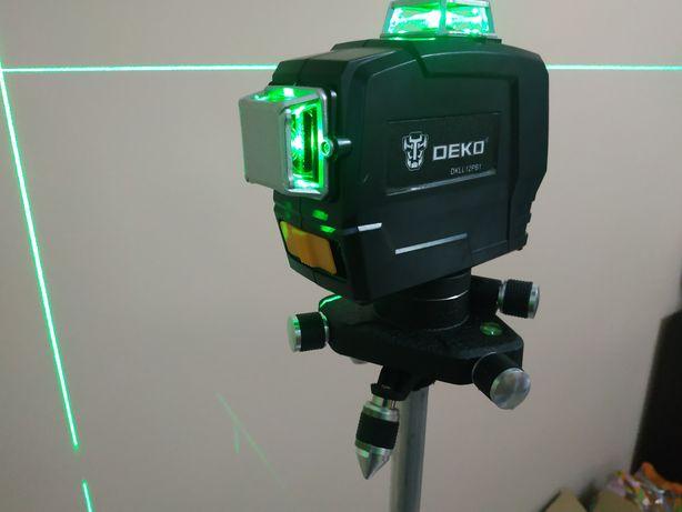 Nowy samopoziomujący laser krzyżowy DEKO 3D 12 linii poziomnica