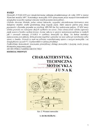 Instrukcja obsługi motocykla Junak M10