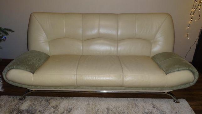 Kanapa skóra / rozkładana (do spania) ze skrzynią + gratis fotel