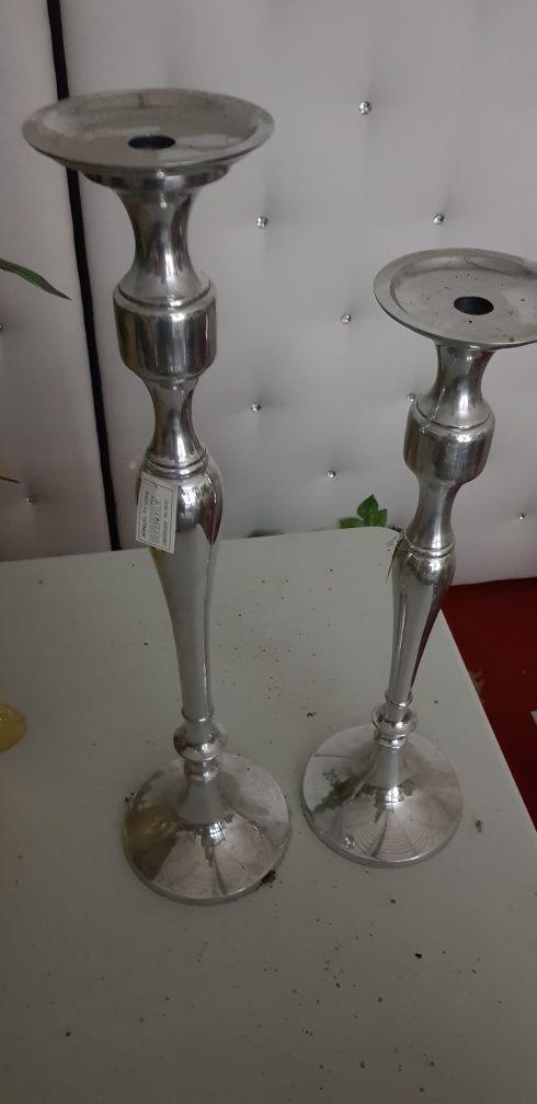 Świeczniki srebrne jysk 50 cm 60 cm