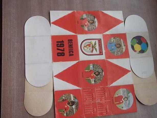 BENFICA 1978 Equipa Completa ( ARMAÇÃO em CARTOLINA)