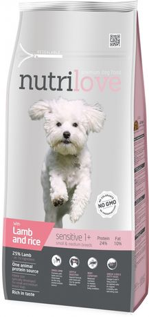 Nutrilove Dog 12502 Adult S&M 8Kg Lamb& Rice