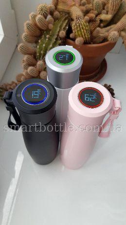 Термокружка, смарт термос з LED дисплеєм та зарядкою USB.