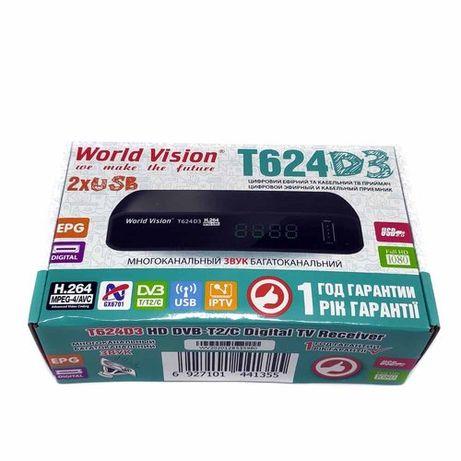 Т2 тюнер, ресивер World Vision T624D3 цифровой эфирный приемник