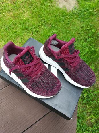 Buty adidas siateczka lato Adidas Swift Run CQ 2663 bordowe bordo
