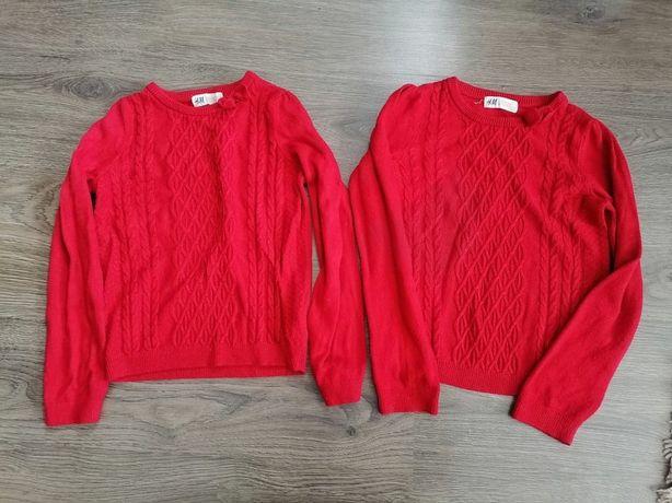 sweterki dla bliźniaczek H&M