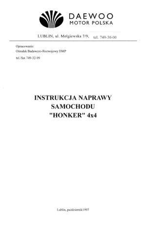 Tarpan Honker IVECO ANDORIA instrukcja naprawy katalog czesci napraw