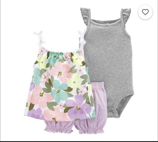 Костюм комплект летний набор шорты боди майка carters картерс