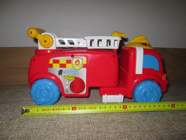 Wóz strażacki: gra i świeci, dwa przyciski koguty (Smyk)