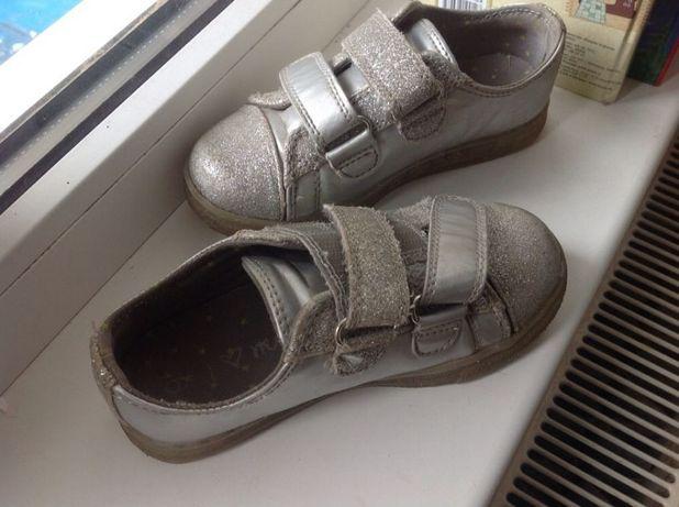 Серебристые светящиеся кеды Next, 17 см, ботинки, мокасины, кроссовки