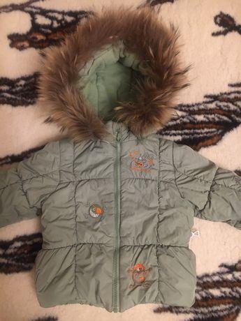 Зимняя куртка для мальчика 86 размер