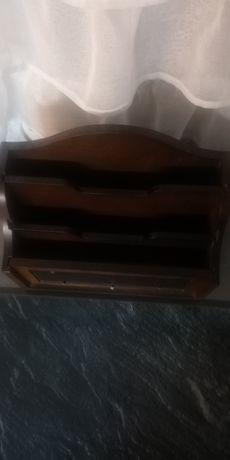 Organizator brązowy drewniany