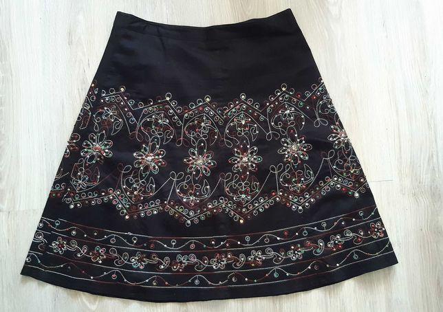 Spódnica New Look 42 cekiny folk folkowa boho midi