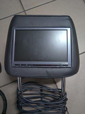 Zestaw DVD wbudowany w zagłówki auta LCD ALPINE+AudioMedia+Słuchawki