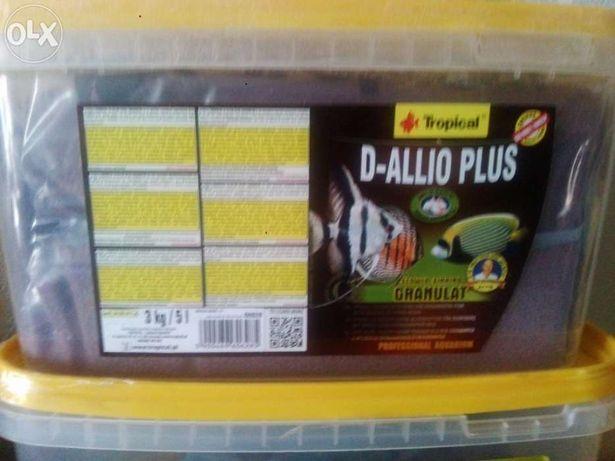 Comida Peixes Tropical D-allio Plus granulado avulso tb dá para peixes
