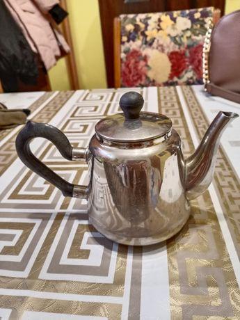 Мельхиоровый заварник чайник
