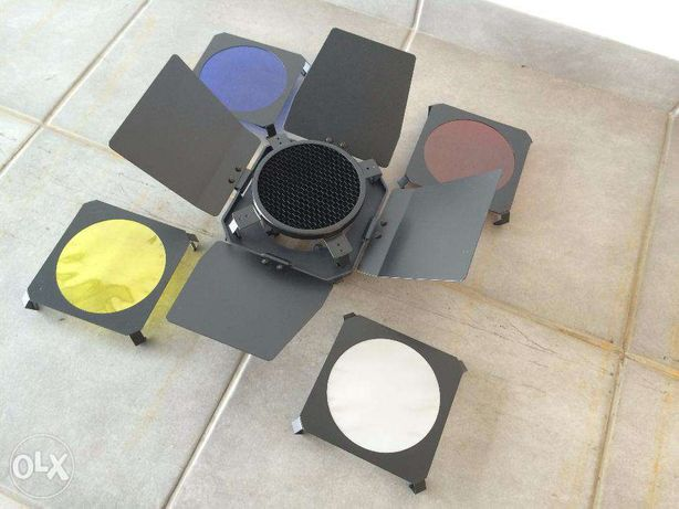 Filtros de cores para cabeça de flash