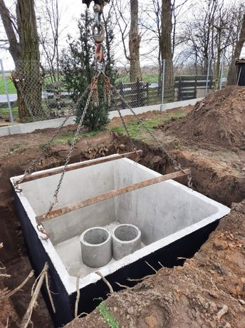 Szambo szamba betonowe zbiorniki betonowe Katowice Rybnik Tychy 8m/3