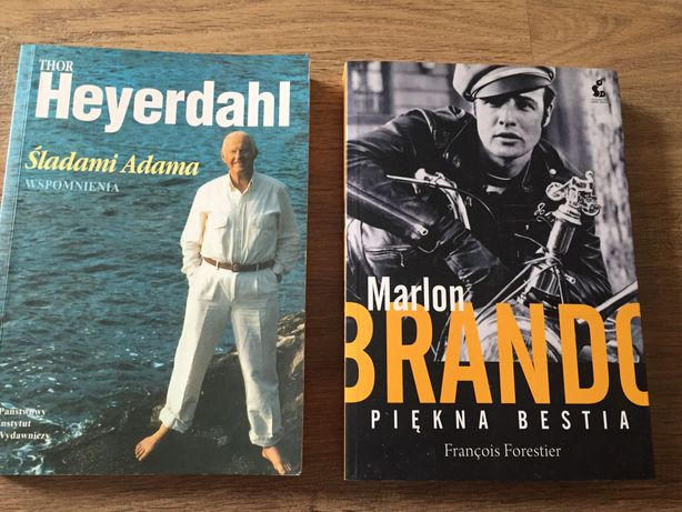 Marlon Brando, Thor Heyerdahl - historie życia. Cena za komplet.