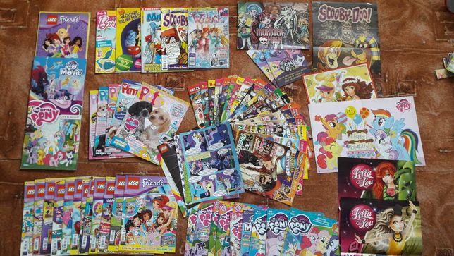 Magazyny/gazetki/komiksy/plakaty kolorowe dla dzieci - MSP, MLP, Lego