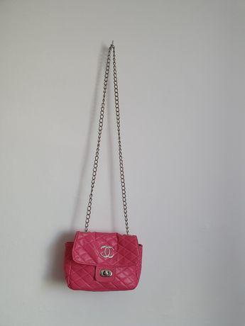 Chanel Mała różowa torebka