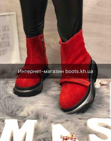 Женские замшевые зимние ботинки в стиле Balenciaga на платформе 37,40