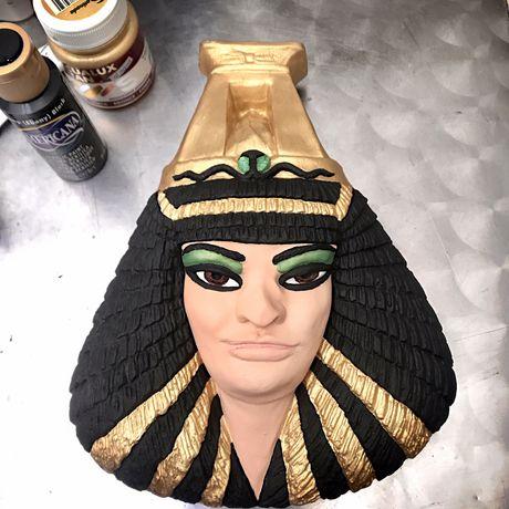Escultura Pintada a mão Cleopatra
