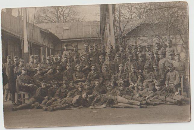 dwa stare zdjęcia I Wojna Światowa żołnierze pruscy