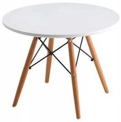 Stolik okrągły Ikar stół kawowy DSW średnica 60 biały