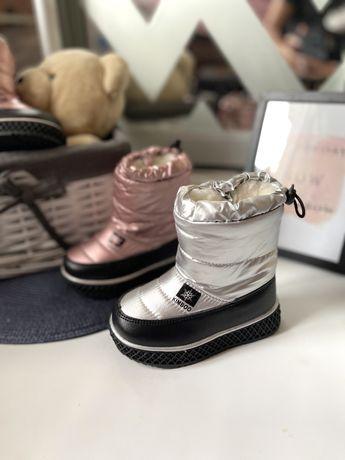Зимние дутики, ботинки , 23-28 размеры, два цвета