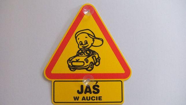 Naklejka JAŚ, Jasio, Jasiek, Jan, tabliczka samochodowa. TANIA WYSYLKA
