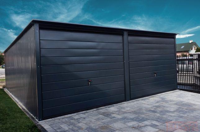 Garaż blaszany 6x6m Grafit |Garaże blaszane| Wzmocniony