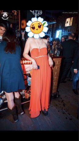 Платье VIENNA Collection шикарное коралловое нежное 46 размер М