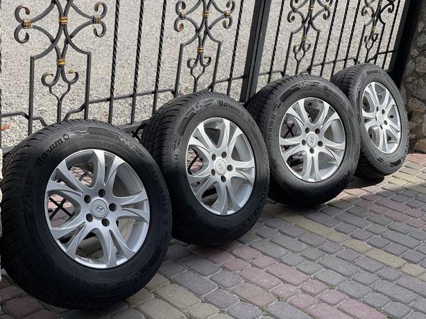 Original ДИСКИ + ШИНИ Hyundai ix35 6.5j 215/70 R16 BARUM зима