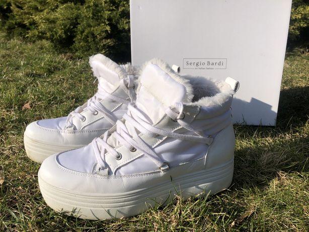 SERGIO BARDI, botki, sneakersy na koturnie rozmiar 42