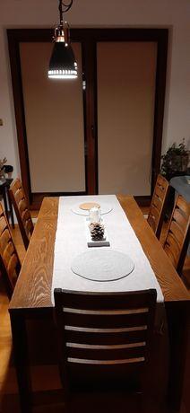 Sprzedam przepiękny stół 180x90 drewniany skandynawski z 5 krzesłami