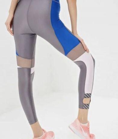 Nike legginsy running silver nowość S
