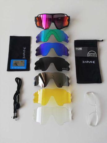Óculos ciclismo polarizados uv 400