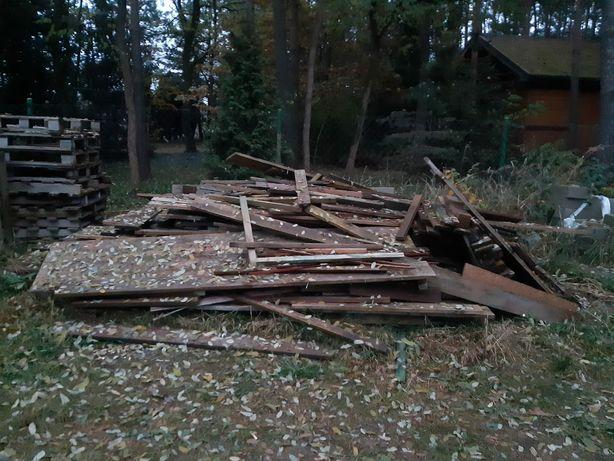 Drewno po budowie + palety