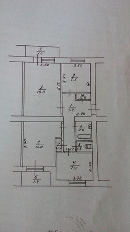 Продам 3-х кімнатну квартиру в смт Ладан.