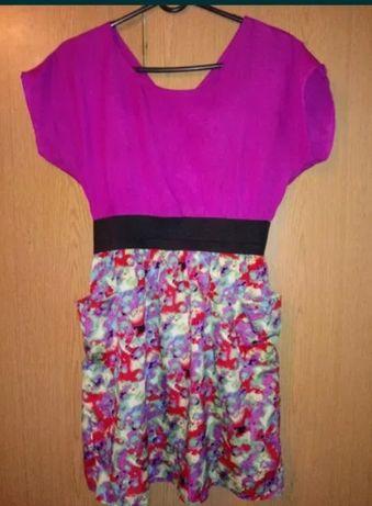 Markowa modna sukienka na lato kwiaty M Dunnes