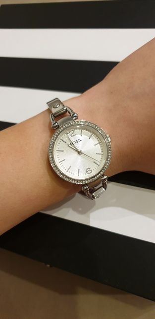 Zegarek FOSSIL srebrny z cyrkoniami