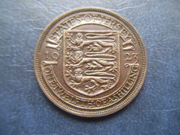 Stare monety 1/12 szylinga 1923 Jersey