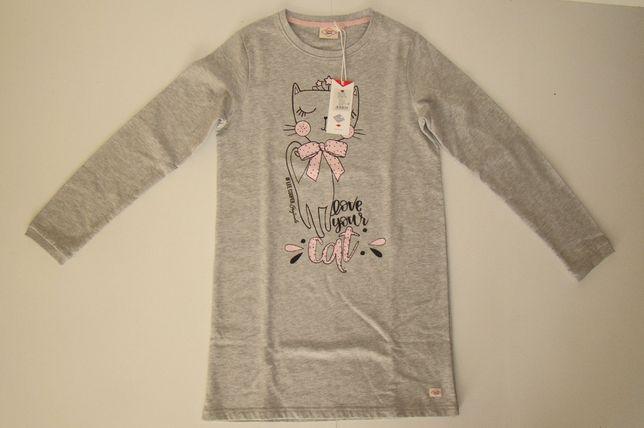 Przedłużana bluza dziewczęca LEE COOPER z nadrukiem r .164