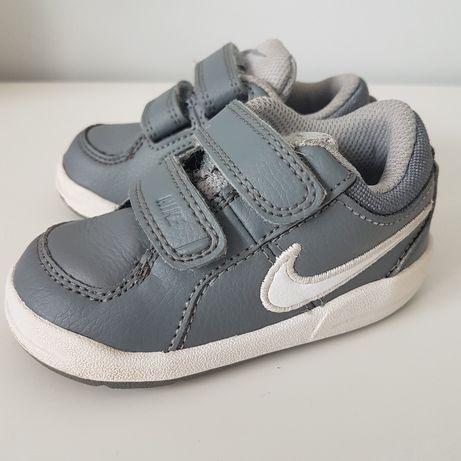 Dziecięce buty sportowe NIKE, szare na rzepy, r.21