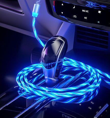 Магнитная зарядка телефона Светящийся кабель: Iphone Micro Usb Type C