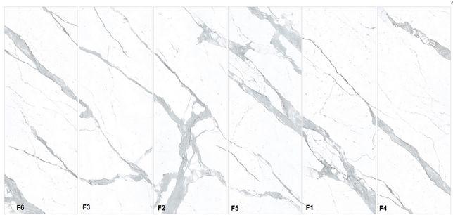 LAMINAM–Naturali Bianco Statuario Venato- spieki kwarcowe 3+ – ściany