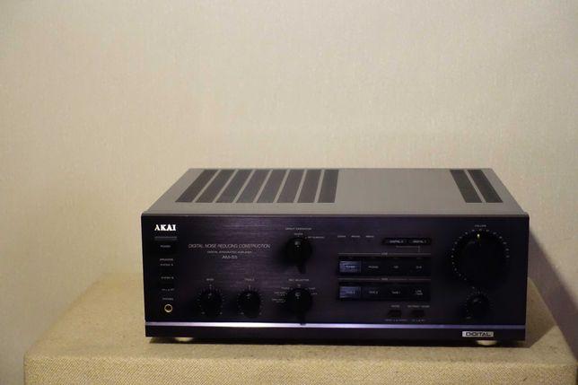 Высококачественный мощный HI-FI усилитель AKAI AM-55 (2х120Вт/11кг)