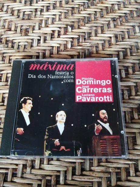 CD Dia dos namorados, Pavarotti, Carreras, Plácido Domingo