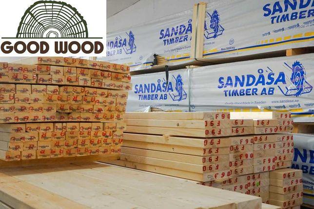 Drewno konstrukcyjne 45x220 C24 na dom szkieletowy, kantówka SZWEDZKIE
